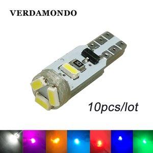 10PCS T5 3020 1206 3014 5SMD CANBUS 무료 오류 웨지 자동차 LED 전구 램프 인테리어 대시 보드 게이지 전구 7 색