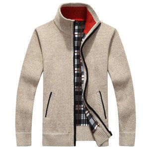 Men's Sweaters Autumn Winter Warm Thick Velvet Sweater Jackets Cardigan Coats Male Clothing Casual Loose Knitwear Size 3XL