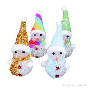 LED Bonhomme De Neige de Noël ornement lumière de Noël Père cerf ours Nuit Lumière Enfants Jouets de Noël cadeaux arbre pendentif lumières
