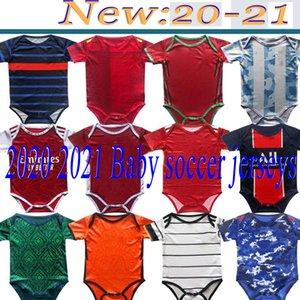 2020 2021 jerseys del fútbol de bebé de 6 meses 18 kits para bebé camisetas de bolas escuadra Body 20 21 Rastreo ropa maillot de pie de futbol