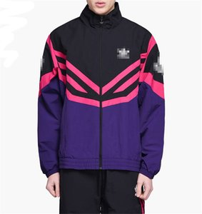 2020 del progettista del Mens Jackets Womens attivi giacche di marca della rappezzatura 3 Stripes Giubbotti da uomo autunno delle donne di modo di inverno Cappotti EB2 B105423V