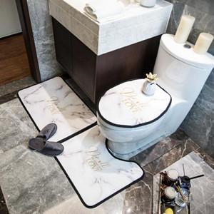 13 Stiller Avrupa ve Amerika Sıcak Satış Klozet Kapakları Moda Baskılı Odası Mats U şeklinde Mat Kaymaz Desen Banyo Aksesuarları