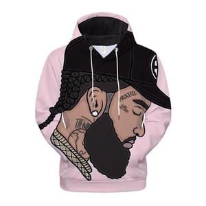 Avec Nipsey Hussle 3D Print Homme Vêtements Mode Printemps et hoodies Casual Automne Designer Hoodies