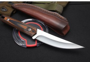 Top Quality Survival Straight Hunting Knife D2 Mirror Polish Drop Point Blade Full Tang G10 Handle With Leather Sheath