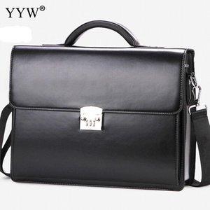 Деловых мужчины сумку Мужская Исполнительный Портфель черный Портфель Tote сумки для мужчин Синтетическая кожа сумки футляр для документов