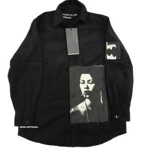 18FW long T-shirt réel riche BIBASIQUE ERD laine impression Patch High Street Shirt manches mode HFWPWY124