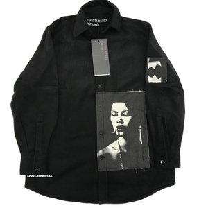 18FW larga Camiseta real Rich dibásico ERD lana de impresión High Street Patch camisa de la manera mangas HFWPWY124