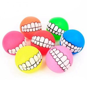 Top-Dog Squeaky Ball Toy Teeth Funny Chew Squeaker Sound Dogs Play Toys