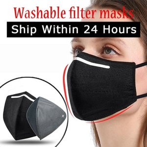 Black Reusable Respirator Mask Dust Face Masks Adult For Germ Protection Masks Free Shipping Can Be Washed