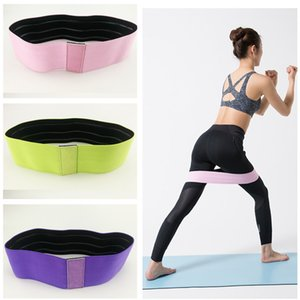 Elastic Yoga Resistance Assist Band Loop Body Building Fitness Equipment Exercise Bands For Leg Ankle Weight Training 3 Colors Sale