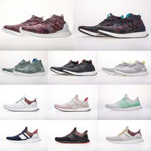 (مع صندوق) أعلى جودة A +++ Kith Multicolor UB Mid Help Triple Black Ultra 4.0 الاحذية أحذية الرجال النساء أحذية رياضية Primeknit 36-48