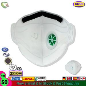 50Pcs CE сертификация KN95 Защитная маска с клапаном пыли лица аэродинамическим способом из расплава Маски Фильтр Mouth крышки многоразовый Респиратор РМ2,5 клапаны