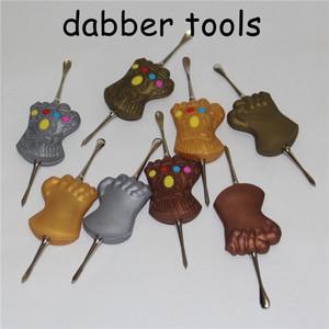 تصميم جديد أدوات الشمع dabber الشمع البخاخة فضية اللون 120 ملليمتر dab جرة أداة الجاف عشب المرذاذ ل حصيرة حاوية vape مجانية dhl