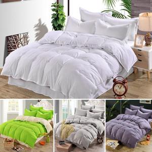 Plain Duvet Cover Quilt cama Tampa Consolador Bedding Sets Adultos Single King Duplo tamanho da família Crianças de cetim de algodão acolchoado