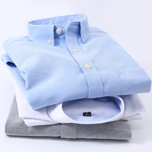 High-quality Oxford Fabric Men's Shirts, Business Casual Long-sleeved Style Shirts, Youth Wedding Praty Evening Dresses