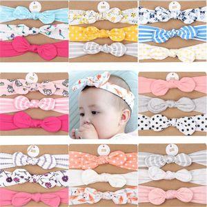 Baby Girl Turban Headband Soft Nylon Headwraps Bow Knot Headbands Stretchy Hair Bands Children Little Girls Fashion Hair Accessories