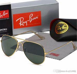 Высокое качество шестигранные металла очки для женщин людей Нерегулярное солнцезащитные очки Золото Зеленый 51мм стеклянный объектив с Black Case