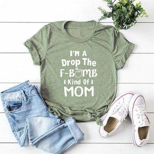Plus Size S-5XL Fashion MOM Print T Shirt Women Shirts 100%Cotton O Neck Short Sleeve Tees Summer Women T-Shirt Pink Top TShirt