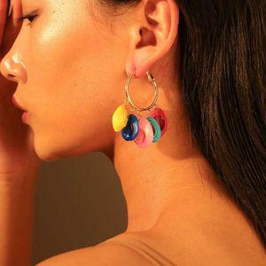 coquilles de puka balancent boucles d'oreilles pour les femmes coquille blanche lustre boucle d'oreille en alliage cerceau shell pendentifs bohème vsco fille perlé oreille bijoux cadeau