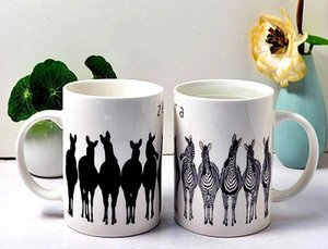 2020 nouvelles tasses personnalisées changement de couleur de porcelaine personnalisée sublimation blanc tasse à café en céramique avec logo gros