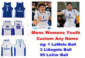 Lituanie Vytautas Prienu Jersaeys Hommes 1 LaMelo ball Jersey 3 LiAngelo balle 99 LaVar balle New Basketball Maillots Personnaliser Cousu