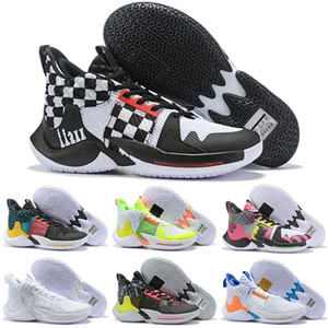 Why Not Zer0. 2 Russell Westbrook II Multi-Color Hot Selling Drop Shipping Famous Mens Basketball Shoes Size 40-46