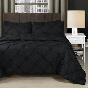Bedding Sets Quilt Cover Duvet Cover New 3pcs Black Polyester Fiber Pillow Case Home Furnishing Bed Sheet Gift