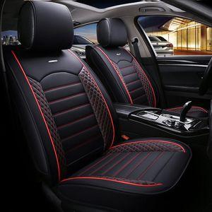 Cubierta de asiento de cuero de lujo universal para Peugeot 3008 301 306 307 308 405 406 407 205 206 207 2008 Accesorios de auto antideslizante