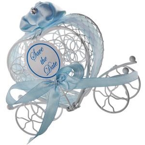 Decoración de la boda romántica en forma de corazón del hierro creativo carro de la calabaza caramelo de la caja de regalo