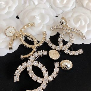 2020 Luxurious quaity new arrival drop earring brooch stud earring with daimond and pearl for women wedding jewelry gift with box PS4409