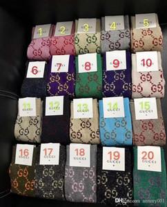 20 colori calze di seta dorata calza moda nuova con scatola regalo mostra calze femminili a gamba lunga colori multipli calze di cotone lavorato a maglia