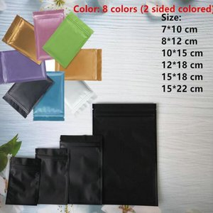 Plastic mylar bags Aluminum Foil Zipper Bag for Long Term food storage and collectibles protection 8 colors two side colored