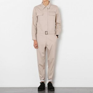2019 Fashion Cotton Overalls Mens Casual Cargo Pants Male Baggy Long Sleeve Workwear Jumpsuits With Jacket Work Suit DS504061