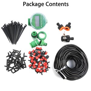 Micro Drip Irrigation System Self Watering Garden Hose Kit Accessaries Tool