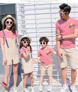 Stripes 2019 Nuovo arrivo Famiglia corrispondenza abiti estate magliette Confortevole Blue Red
