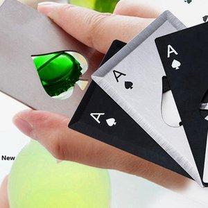 Stainless Steel Bottle Opener Beer Opener Poker Playing Card of Spades Soda Bottle Cap Opener Bar Tools Kitchen accessories ZZA1101