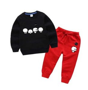 2020 Новый классический Luxury Designer Baby футболка куртка Брюки Two-piec 2-9 лет Olde Костюм Детская мода детская 2 шт. Хлопок Комплекты