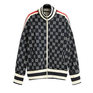 Para hombre de la marca chaquetas activa Patrón Cartas ropa de moda delgada capa de la calle de Hip Hop Sudadera Mens Boys manga larga de la cremallera 2019 New.B35
