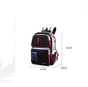 Black and white stitching High school bags for teenage boys girls travel backpack laptop bag 15.6 kids schoolbag backpack