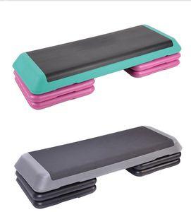 2020 hot Aerobics Trainer Home Gym Fitness Workout System Adjustable Aerobic Platform Cushion Top 4 * Risers