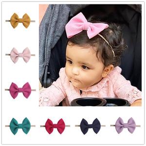 Las niñas del bebé arquea las vendas del pelo del Bowknot Wraps nudo de la mariposa multicolor Hairbows aros de infantil Los niños pequeños Toca pelo Accesorios E22508