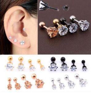 Boucles d'oreilles en acier inoxydable de haute qualité avec six griffes, ongles en os d'oreille, bijoux pour ongles de nez, anneaux de nez de punk.