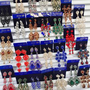 보헤미안 복고풍 유럽과 미국의 합금 다이아몬드 긴 귀걸이 유명한 궁전 법원 바람 과장된 귀걸이 wholesales 보석 믹스 DHLS