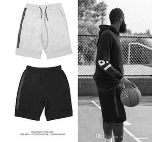 Bicchierini casuali di sport della tasca dei pantaloni Tech Fleece Sport Pantaloncini Zipper all'ingrosso pantaloni casual Grigio S-XL Man Corto Nero di