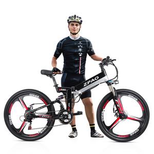 ZPAO KB26 alta qualidade Folding bicicleta elétrica, 26 polegadas 350W Mountain Bike, 48V 10.4Ah bateria de lítio, 5 Grade Pedal Assist