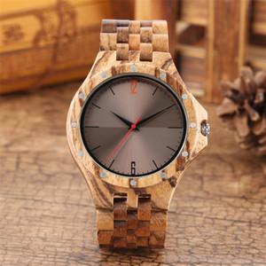 De madera del reloj de cuarzo para los hombres relojes de lujo de madera natural del brazalete del reloj de hombre casual para hombre Relojes Top Regalo Hombre Reloj Reloj
