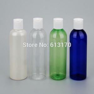 Бесплатная доставка 200ML Пустой пресс Cap бутылки Clelar ПЭТ бутылка шампуня Pearl White Sample бутылки Косметические контейнеры для упаковки