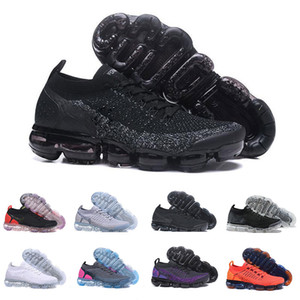 Nike Air Vapormax Flyknit 2020 Vapores Knit 2,0 Volt Air Fly 1.0 Designer Mens Trainers Sneakers Safari CNY Red Orbit Mulheres respirável Running Shoes Maxes Tamanho 36-45