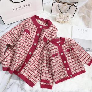 Bebé del suéter otoño e invierno Nueva capa del suéter padres e hijos niñas Tonytaobaby las niñas