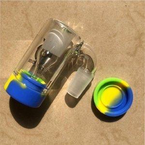14 milímetros Masculino Joint Ash Catcher Plastic Material de Silicone ashcatcher Com Silicon Container Heady Cor Para água Caliane Ferramentas fumo